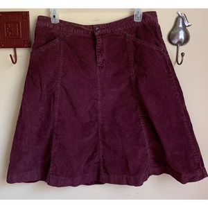 GAP :: burgundy corduroy A line skirt